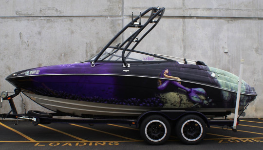 Full Customized Boat Wrap