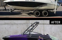 Boats Full Customized Boat Wrap Before & After