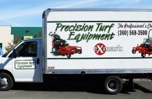 Box Trucks, Buses & Trailers Partial Box Truck Wrap For Precision Turf Equipment
