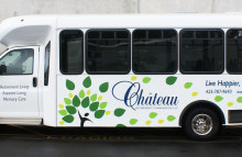 Box Trucks, Buses & Trailers Partial Bus Wrap For Chateau Retirement