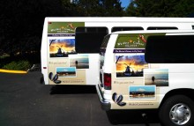 Box Trucks, Buses & Trailers Partial Wraps for Whidbey SeaTac Shuttle