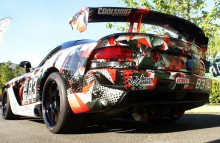 Digitally Printed Vehicles Customized Full Wrap on Dodge Viper