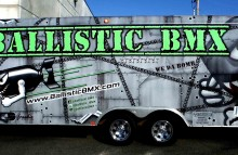 Box Trucks, Buses & Trailers Full Trailer Wrap for Ballistic BMX