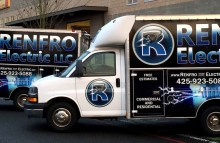 Box Trucks, Buses & Trailers Full Wraps for Renfro Electric LLC