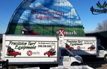 Box Trucks, Buses & Trailers Matching Box Truck Wraps For Precision Turf Equipment