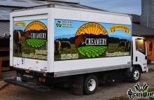 Box Trucks, Buses & Trailers Partial Wrap on Box Truck for Dungeness Valley Creamery