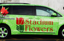 Cars Vans & Trucks Stadium Flowers Full Wrap