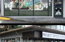 Walls & Interiors Window Perforation Wraps for Project Tattoo Studio